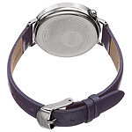 Burgi Womens Purple Strap Watch-B-158pu