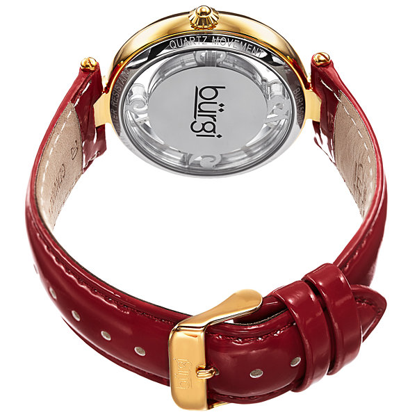 Burgi Womens Red Strap Watch-B-150rd