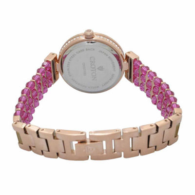 Croton Purple Swarovski Womens Purple 2-pack Watch Boxed Set-Cn207563rgpp
