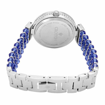 Croton Blue Swarovski Womens Blue 2-pack Watch Boxed Set-Cn207563rhbl