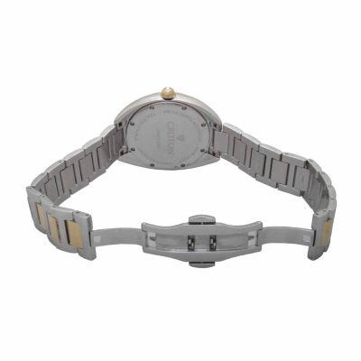 Croton Womens Two Tone Bracelet Watch-Cn207564ttyl