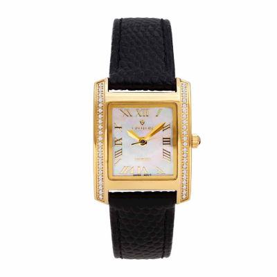 Croton Womens Black Strap Watch-Cn207057ylmp