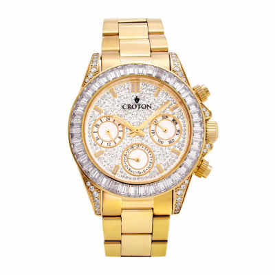 Croton Womens Gold Tone Bracelet Watch-Cn307565ylcr