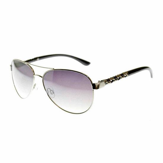 Bisou Bisou Womens Full Frame Aviator UV Protection Sunglasses