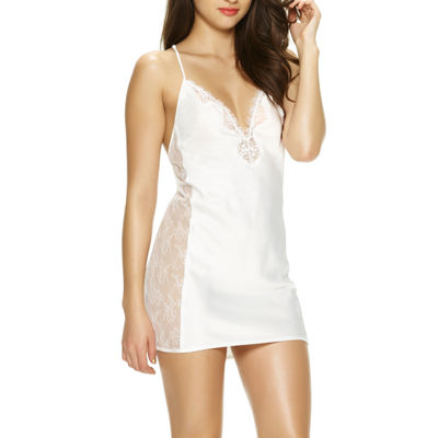 Jezebel Womens Satin Chemise V Neck