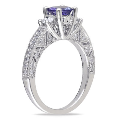 1/2 CT. T.W. Purple Tanzanite 14K Gold Engagement Ring