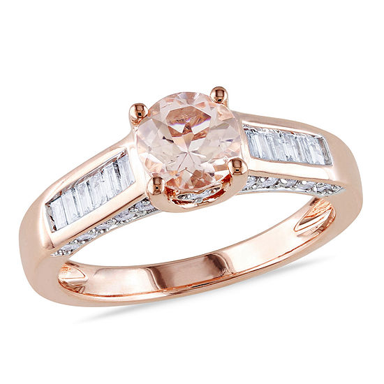 1/2 CT. T.W. Pink Morganite 14K Gold Engagement Ring