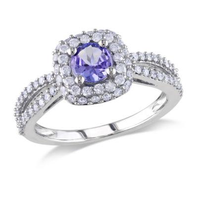 1/2 CT. T.W. Purple Tanzanite 14K Gold Engagement Ring