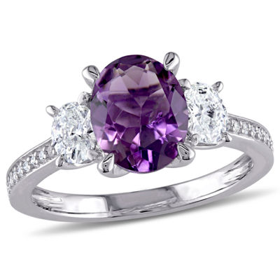 5/8 CT. T.W. Purple Amethyst 14K Gold Engagement Ring