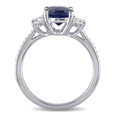 Womens 5/8 CT. T.W. Blue Sapphire 14K Gold Engagement Ring