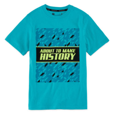 Xersion Boys Crew Neck Short Sleeve Graphic T-Shirt-Big Kid