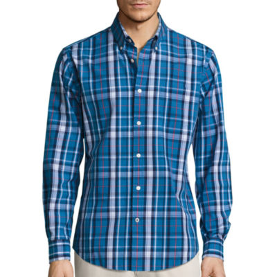 St. John's Bay® Long-Sleeve Legacy Poplin Sport Shirt
