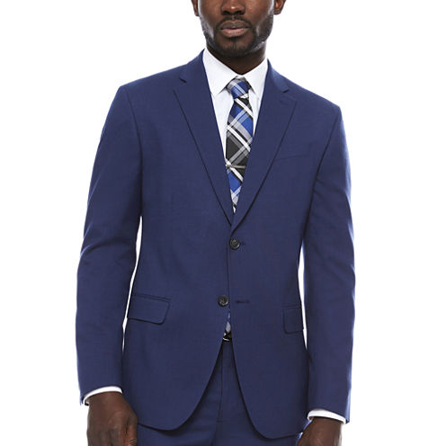 JF Blue Micro Check Jacket-Slim