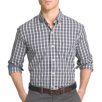 IZOD® Advantage Performance Stretch Slim Fit Long Sleeve Gingham Shirt