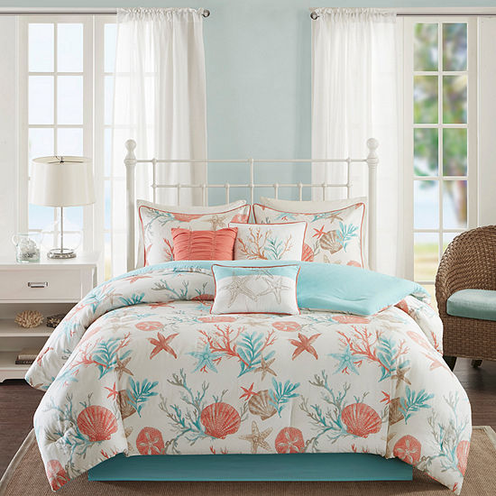 Madison Park Pacific Grove 7-pc. Easy Care Comforter Set