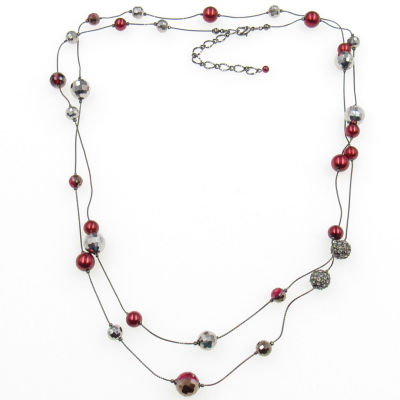 Vieste Rosa Womens Brass Illusion Necklace
