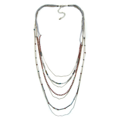 Arizona Womens Round Beaded Necklace