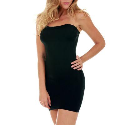 Instant Figure Shapewear Tube Dress with Clear bra straps Shapewear