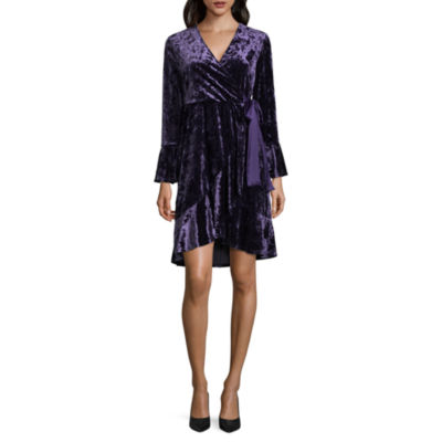 Spense Long Sleeve Wrap Dress