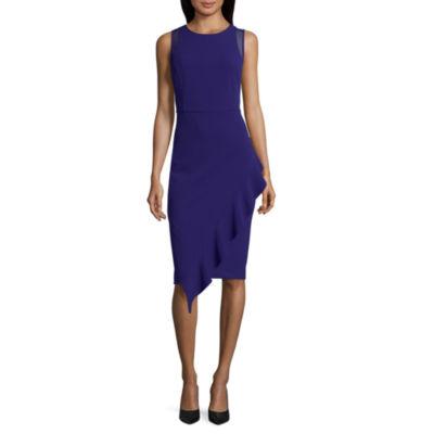 Spense Sleeveless Ruffle Front Dress