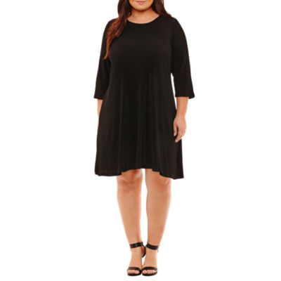 Spense 3/4 Sleeve Shift Dress - Plus