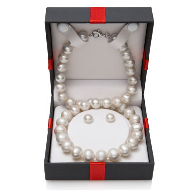 Womens 2-pc. Cultured Freshwater Pearl Sterling Silver Jewelry Set