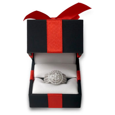 Womens 1 1/2 CT. T.W. Genuine White Diamond 10K Gold Engagement Ring