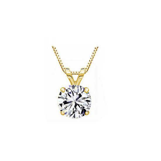 10K Gold Pendant Necklace featuring Swarovski Zirconia