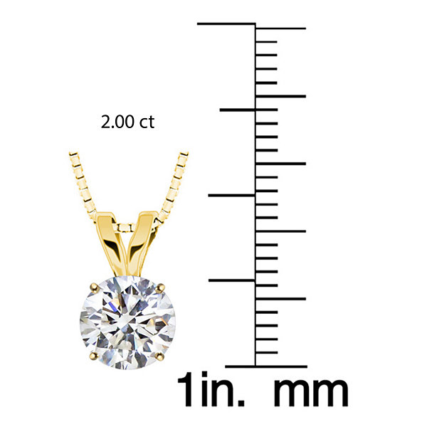 Swarovski Womens White Zirconia 10K Gold Pendant Necklace