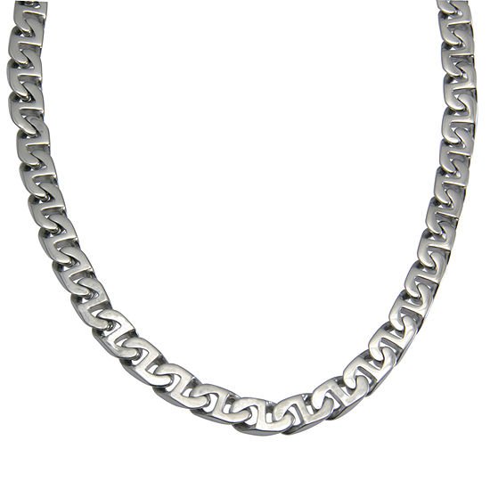 """Men's 24"""" Link Necklace in Stainless Steel"""