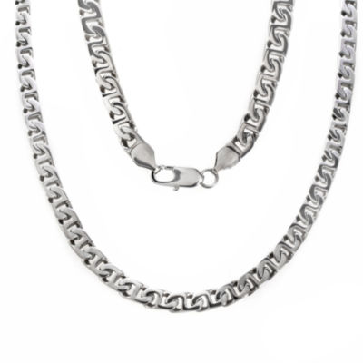 "Men's 24"" Link Necklace in Stainless Steel"