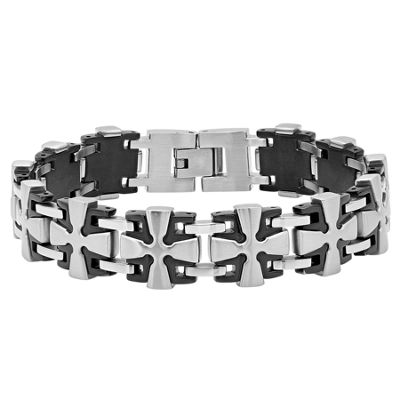Stainless Steel 8.5 Inch Solid Link Bracelet