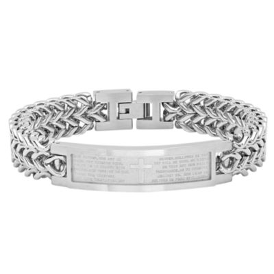 Stainless Steel 8.5 Inch Solid Chain Bracelet