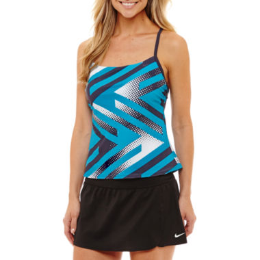 Nike Geometric Tankini Swimsuit Top