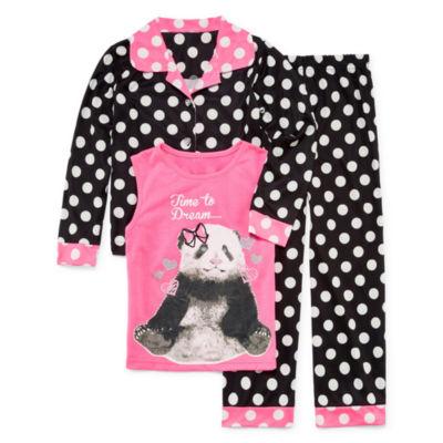 Bunz Kidz 3-pc. Pant Pajama Set Girls