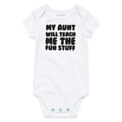"Okie Dokie ""My Aunt Will Teach Me the Fun Stuff"" Bodysuit - Baby NB-24M"