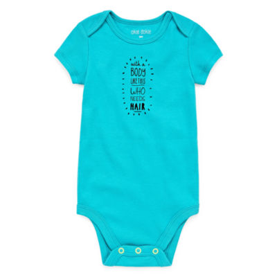 Okie Dokie Slogan Shortsleeve Bodysuit - Baby NB-24M