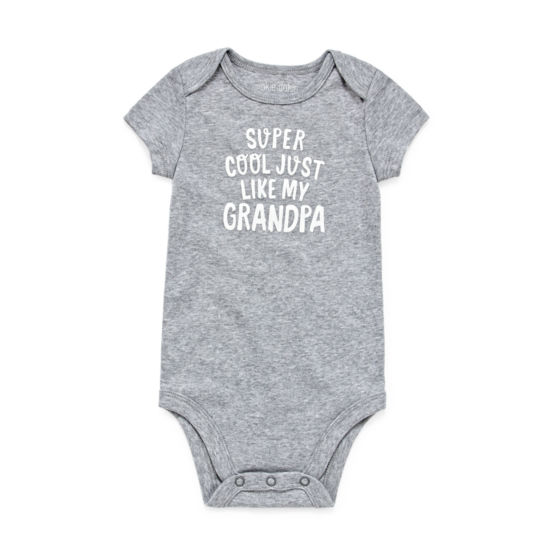 "Okie Dokie ""Super Cool Just Like Grandpa"" Short Sleeve Slogan Bodysuit - Baby NB-24M"