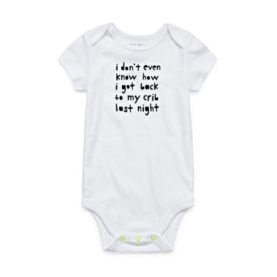 Okie Dokie Short Sleeve Slogan Bodysuit - Baby NB-24M