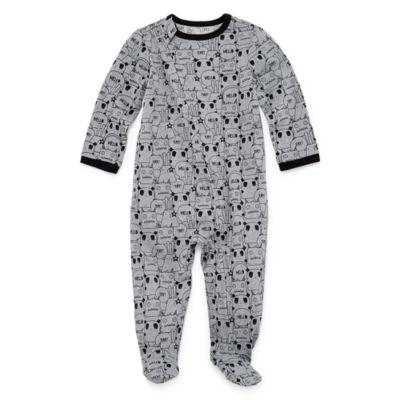 Okie Dokie Printed Full Zip Sleep and Play - Baby Boy NB-9M
