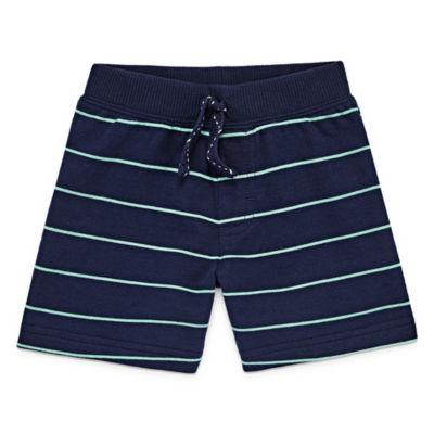 Okie Dokie Stripe Pull-On Shorts Baby Boy NB-24M