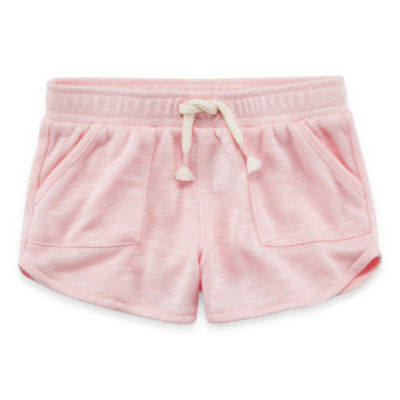 Okie Dokie Solid Pull-On Shorts - Baby Girl NB-24M