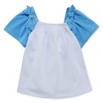 Okie Dokie Short Sleeve Babydoll Top - Baby Girls NB-24M