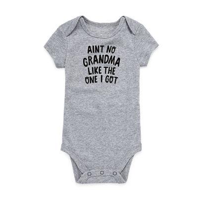 "Okie Dokie ""Aint No Grandma Like the One I Got"" Short Sleeve Slogan Bodysuit - Baby NB-24M"