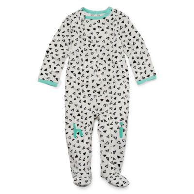 Okie Dokie Printed Full Zip Sleep and Play - Baby Girl NB-9M