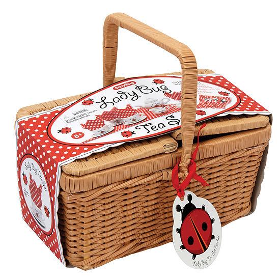 Schylling Ladybug Teaset Basket