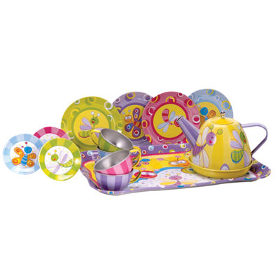 Schylling Summer Bug Tin Tea Set