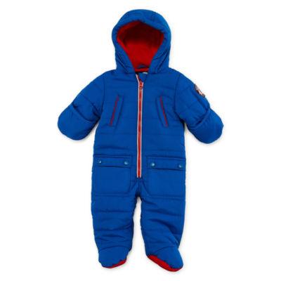Weatherproof Boys 4 Pocket QuiltedPram Suit-Baby