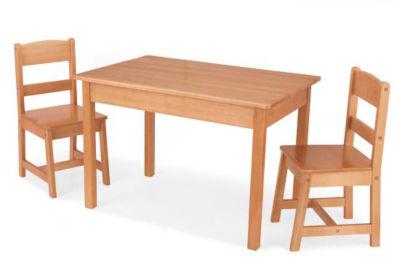 KidKraft Rectangle Table & 2 Chair Set Natural