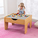 KidKraft Activity Table with Board - Gray & Natural